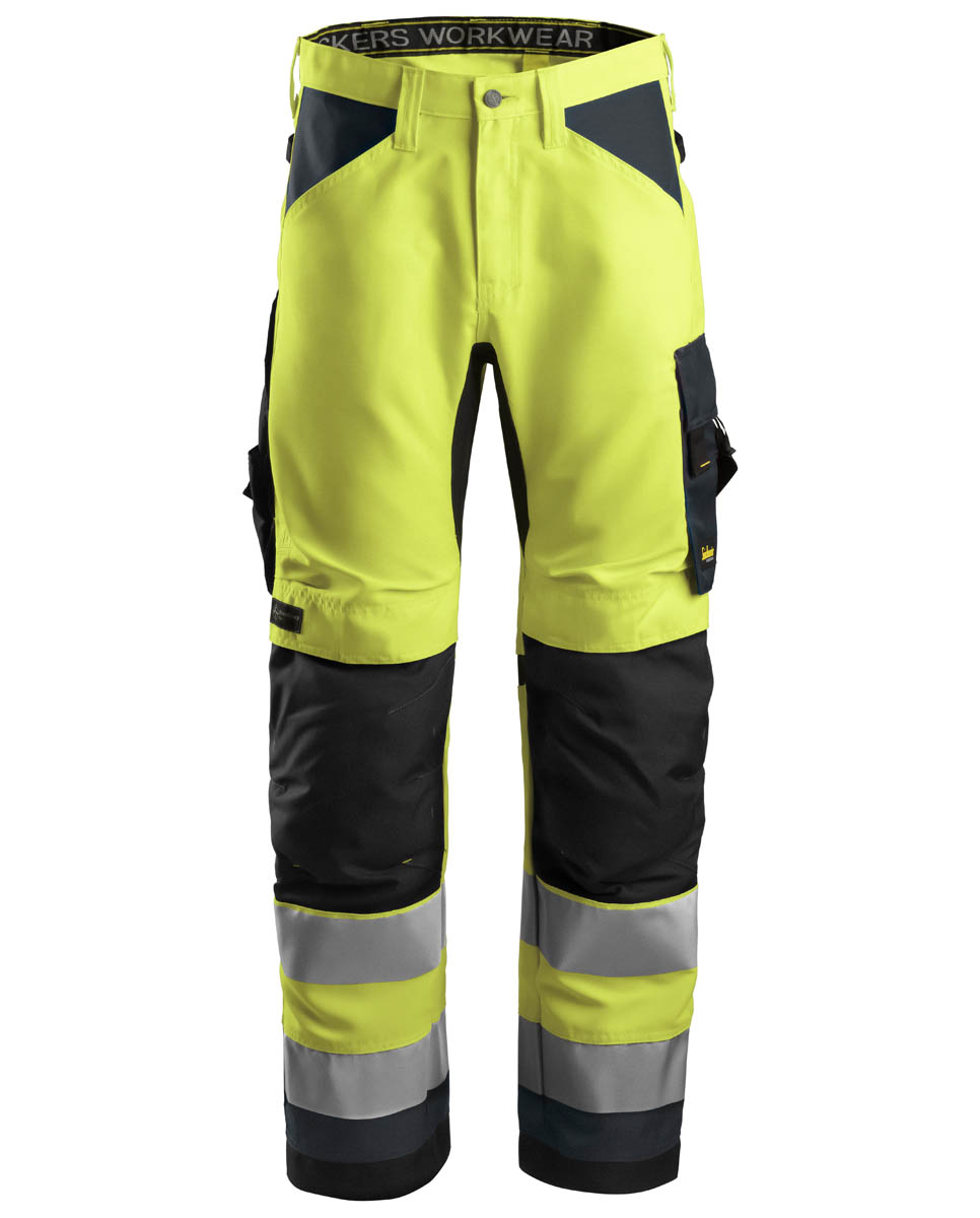 63316658 6331 allroundwork werkbroek cl2 6658 high visibility yellow steel grey 1 1