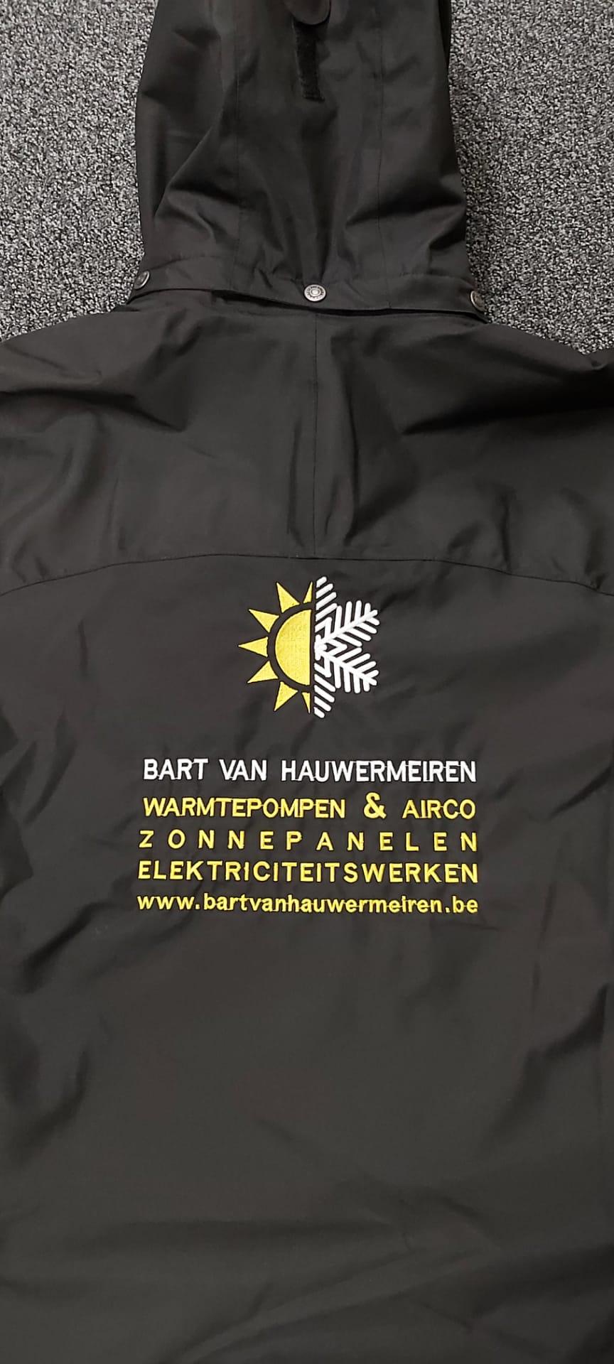 geborduurd logo Bart Van Hauwermeiren