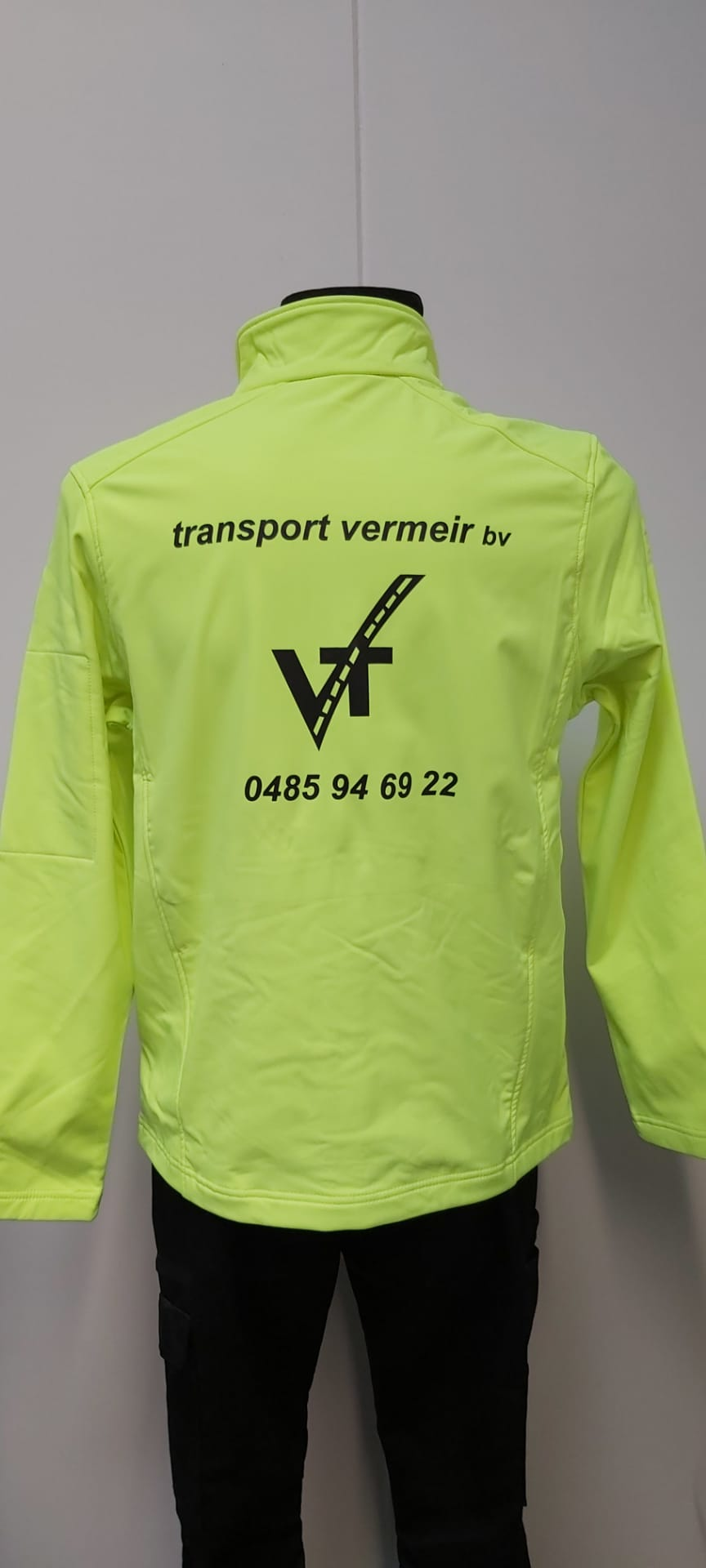 fluo bedrukt Transport Vermeir