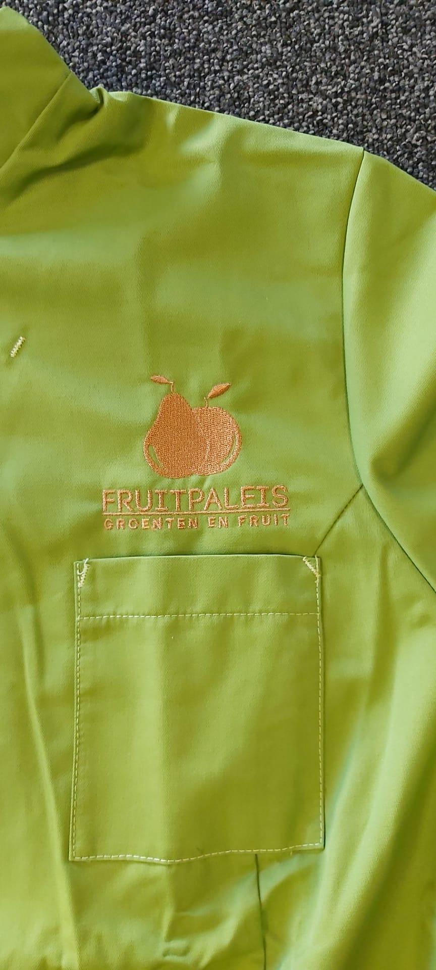 geborduurd logo Fruitpaleis
