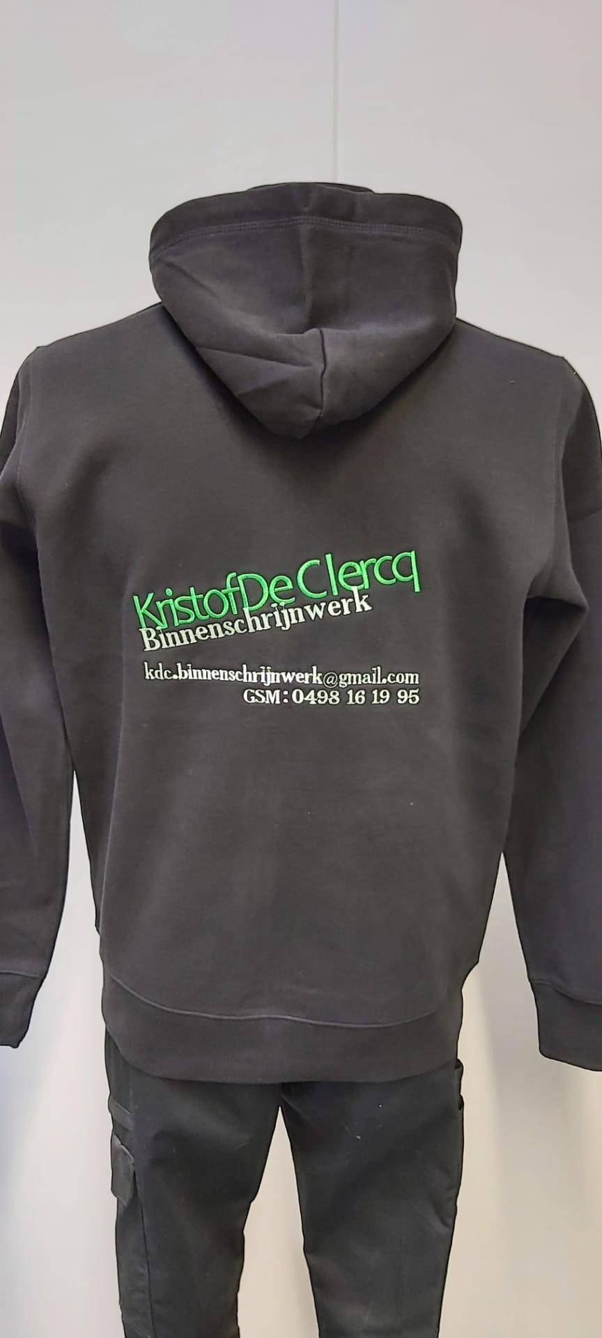 geborduurd logo Kristof De Clercq