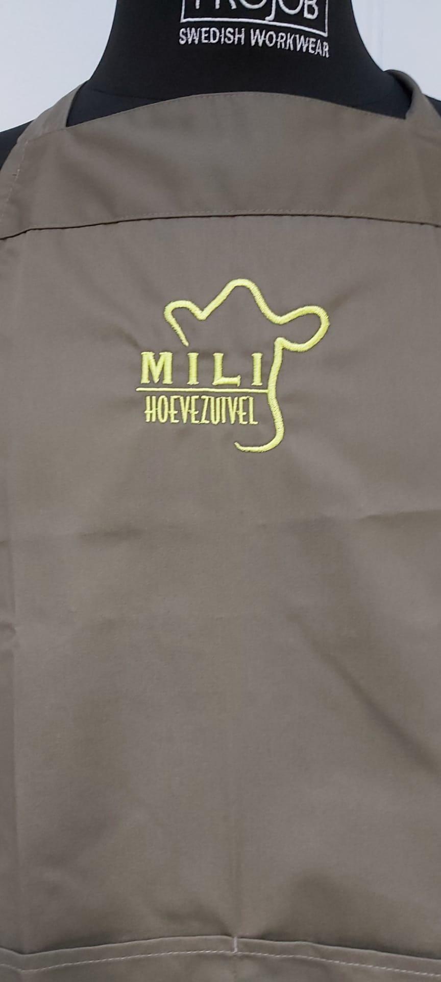 geborduurd logo Mili Hoevezuivel