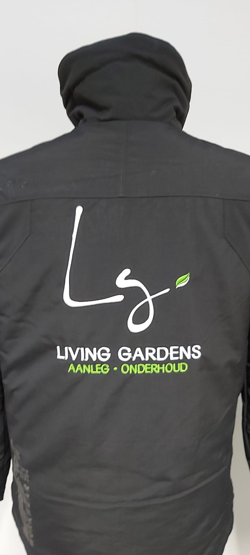 geborduurd logo Living Gardens
